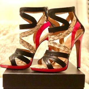 *Authentic* L.A.M.B. Jen Back Zip Sandals/Heels